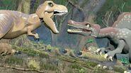 Lego jurassic world tyrannosaurus rex spinosaurus