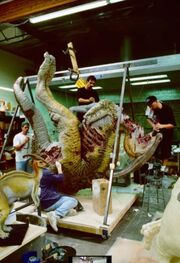 Parasaurolophuksen ruho kadonnut maailm ajurassic park