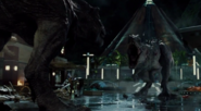 INdominus rex kohtaa tyrannosaurus rexyn