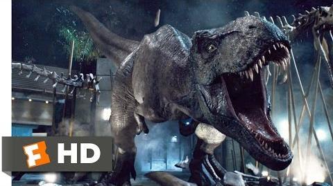 Jurassic World klippi - Tyrannosaurus vs. Indominus rex
