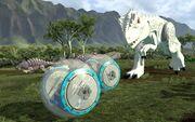 Indominus rex jurassic world lego pelissä