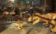 Lego jurassic world tyrannosaurus rex velociraptor