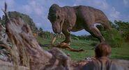 Jurassic Park 1993 tyrannosaurus rex rexy gallimimus 2