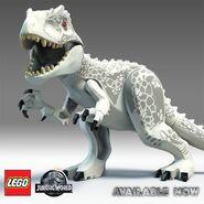 Lego jurassic world indominus rex mainoskuva