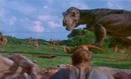 Jurassic Park 1993 tyrannosaurus rex rexy gallimimus 1