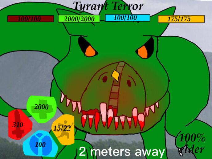 If tyrant terror were in dinosaur simulator by golden789gamer-dc0vtdp