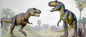 T-rex vs gigantosaurus