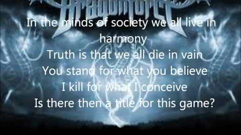 Dragonforce - Once in a Lifetime Lyrics