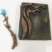Magic wand and book dghda2 bts