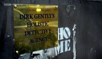 Dirk Gently's Holistic Detective Agency Sign BBC