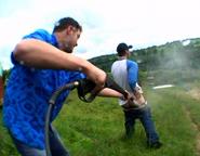 Sprayed on ass