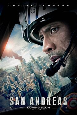 San andreas action poster