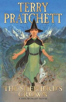 Front cover of the book The Shepherd's Crown by Terry Pratchett, drawn by Paul Kidby