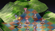 Laharl Throwing Etna in Disgaea Afternoon of Darkness