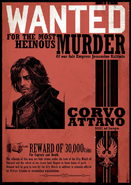 Corvo wanted poster red