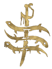Anguille Morte simbolo render