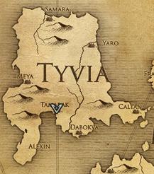 Тамарак, карта
