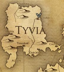Яро, карта