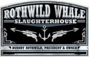 Rothwild slaughterhouse sign