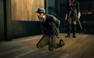 Corporal hamrick kneeling