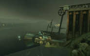 Refinery beached ship