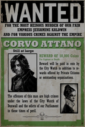 Corvo Wanted Poster All Crimes