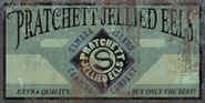 Pratchett jellied eels sign