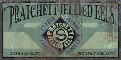 Pratchett jellied eels sign