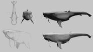 Concept art whale