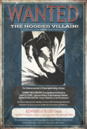 Hooded Villain Wanted Poster