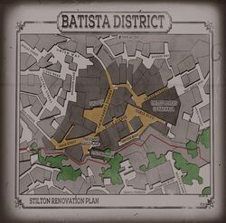 Batista District Map Projector