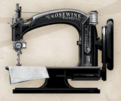 Sewing machine rosewine