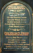 Hound pits menu