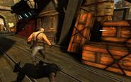 Bullet flying towards Dead Eels member