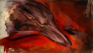 Armando wolfhound painting