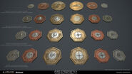 D2 Render of coins