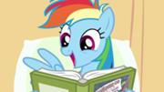 180px-Rainbow Dash enjoys reading S02E16