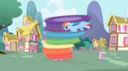 180px-Rainbow Dash cleaning Twilight S1E01