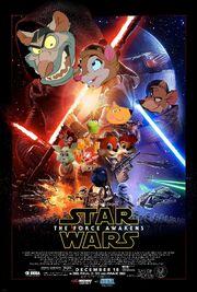 The Force Awakens (Disney and Sega Style) Poster