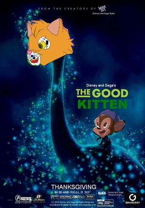 The Good Kitten (Disney and Sega Style) Poster