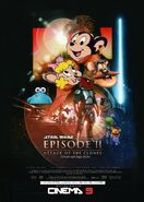 Attack of the Clones (Disney and Sega Style) Poster