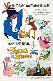 Disney and Sega's The Sword in the Stone Poster
