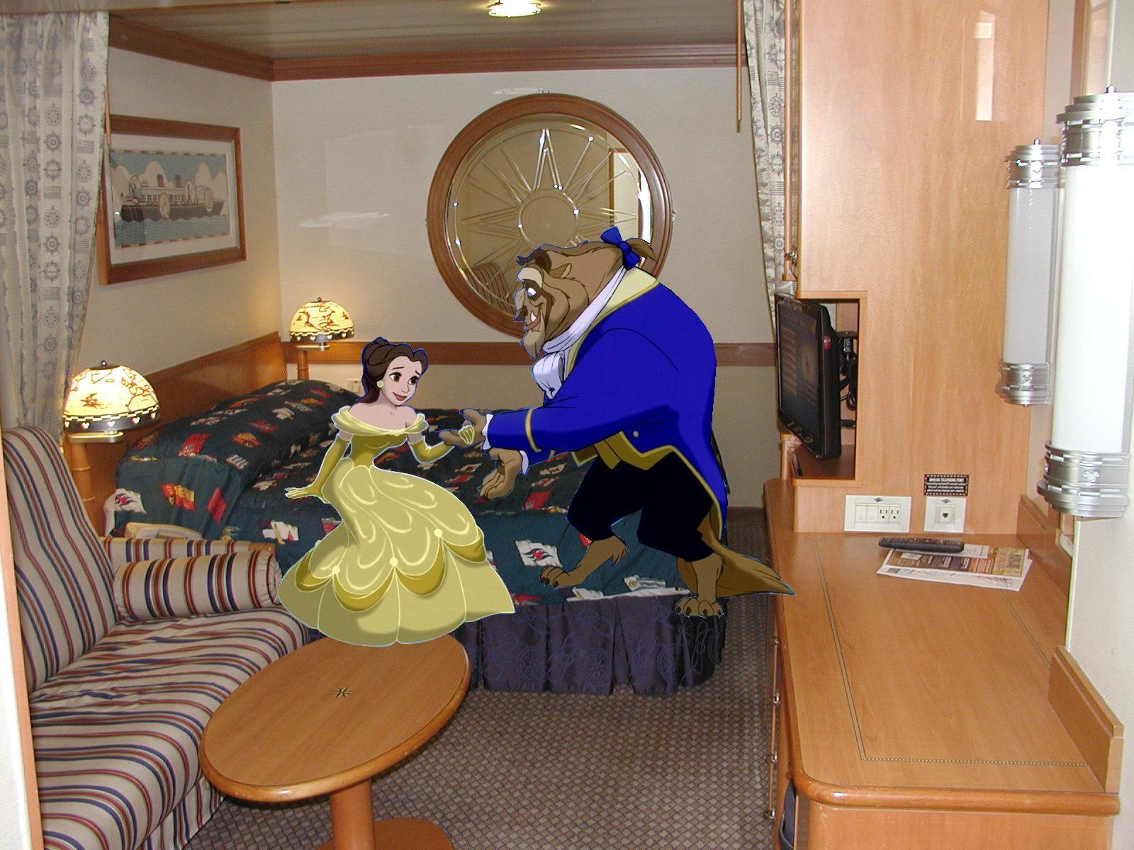 Belle And Beast Join Disney Cruise Line RoomPNG