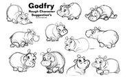 Dumbo II Sketch Godfry