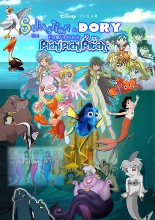 Disney PIXAR Sebastian and Dory meet Mermaid Melody Pichi Pichi Pitch