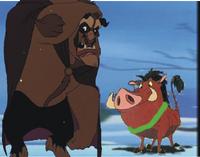 Pumbaa as Ghost of Christmas Past