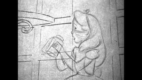 Alice In Wonderland 60th Anniversary Pencil Test