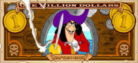 Captain Hook's One Villain dollar bill