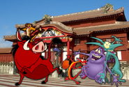 Timon, Pumbaa & companies in Japan