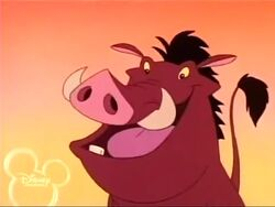 Pumbaa in The Lion King's Timon and Pumbaa.